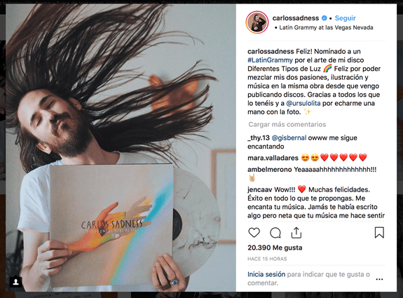 CARLOS SADNESS NOMINADO A LOS 19º LATIN GRAMMY AWARDS