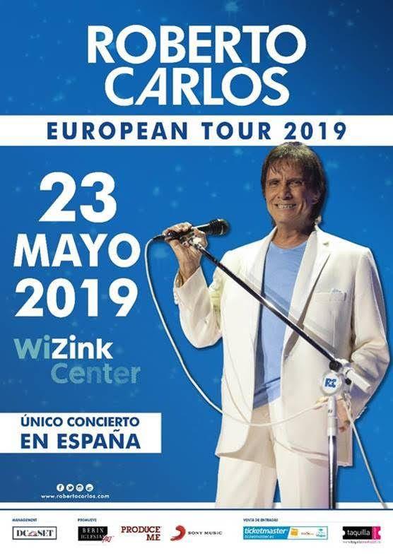 ROBERTO CARLOS OFRECE UN ÚNICO CONCIERTO EN ESPAÑA EL PROXIMO 23 DE MAYO EN WIZINK CENTER DE MADRID
