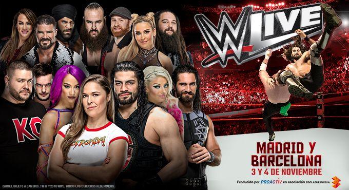 ¡EMPIEZA LA CUENTA ATRÁS PARA VER WWE LIVE EN MADRID Y BARCELONA!
