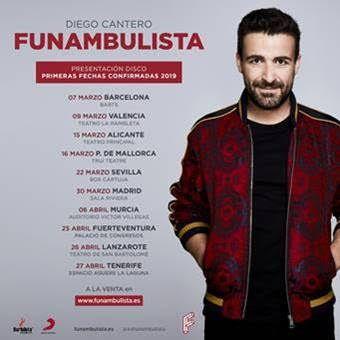 Diego Cantero, FUNAMBULISTA, anuncia las primeras fechas de su gira más esperada  Un tour en el que presentará su nuevo disco que verá la luz en febrero