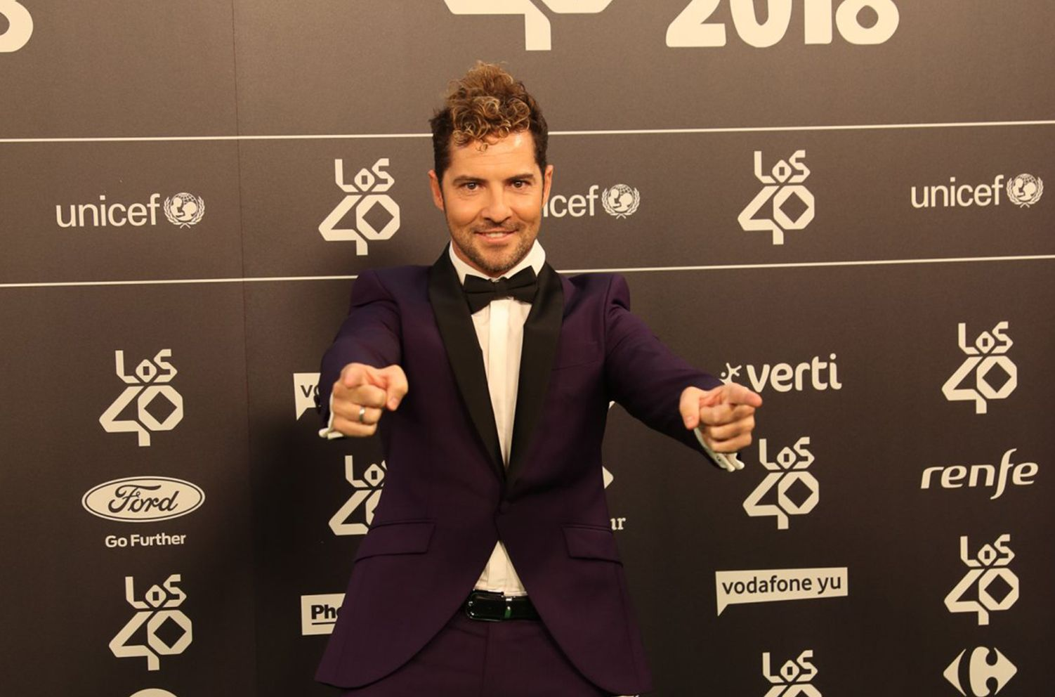 DAVID BISBAL , ENTREVISTA CON EL PREMIO GOLDEN DE «LOS40 MUSIC AWARDS»