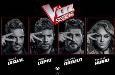'La Voz Senior' aterriza en España de la mano de Antena 3 con David Bisbal, Pablo López, Paulina Rubio y Antonio Orozco como coaches
