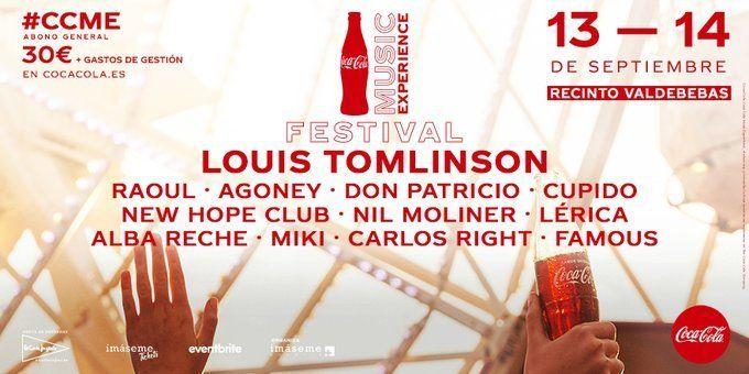 LOUIS TOMLINSON, MIKI y DON PATRICIO, PRIMEROS CONFIRMADOS DE COCA-COLA MUSIC EXPERIENCE 2019