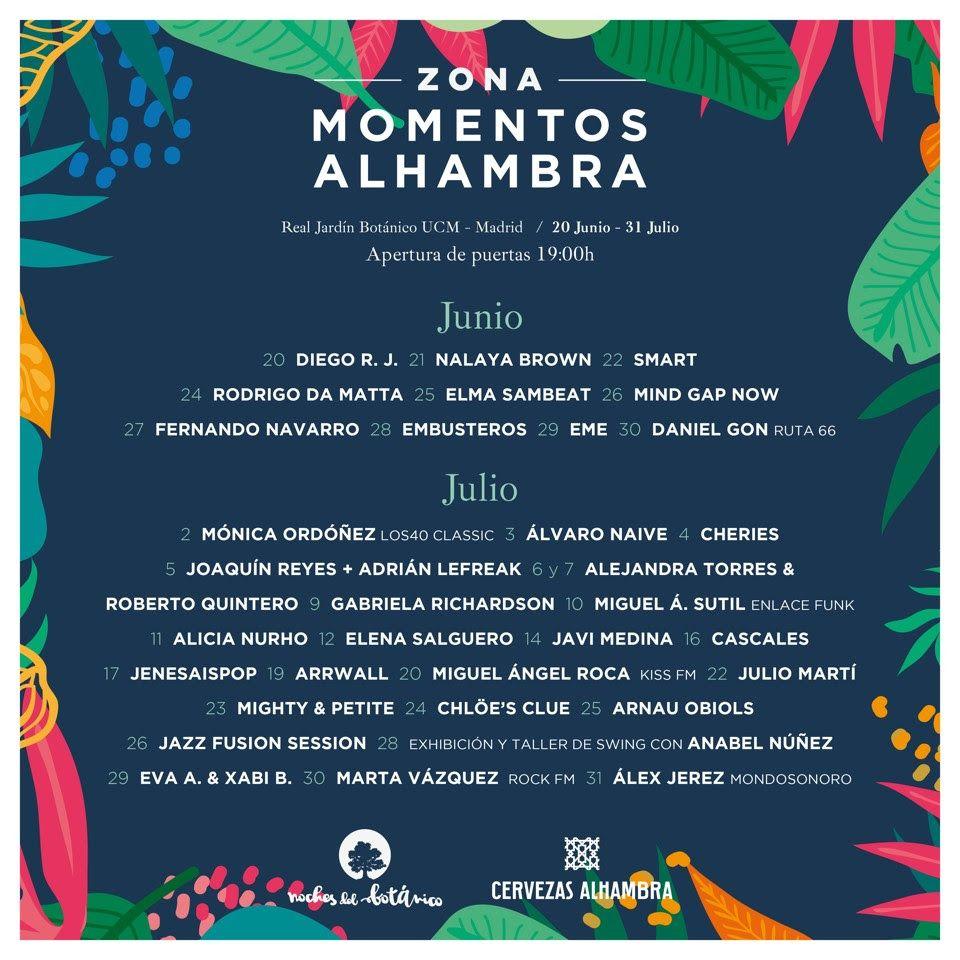 Noches del Botánico anuncia novedades artísticas a una semana de su inicio