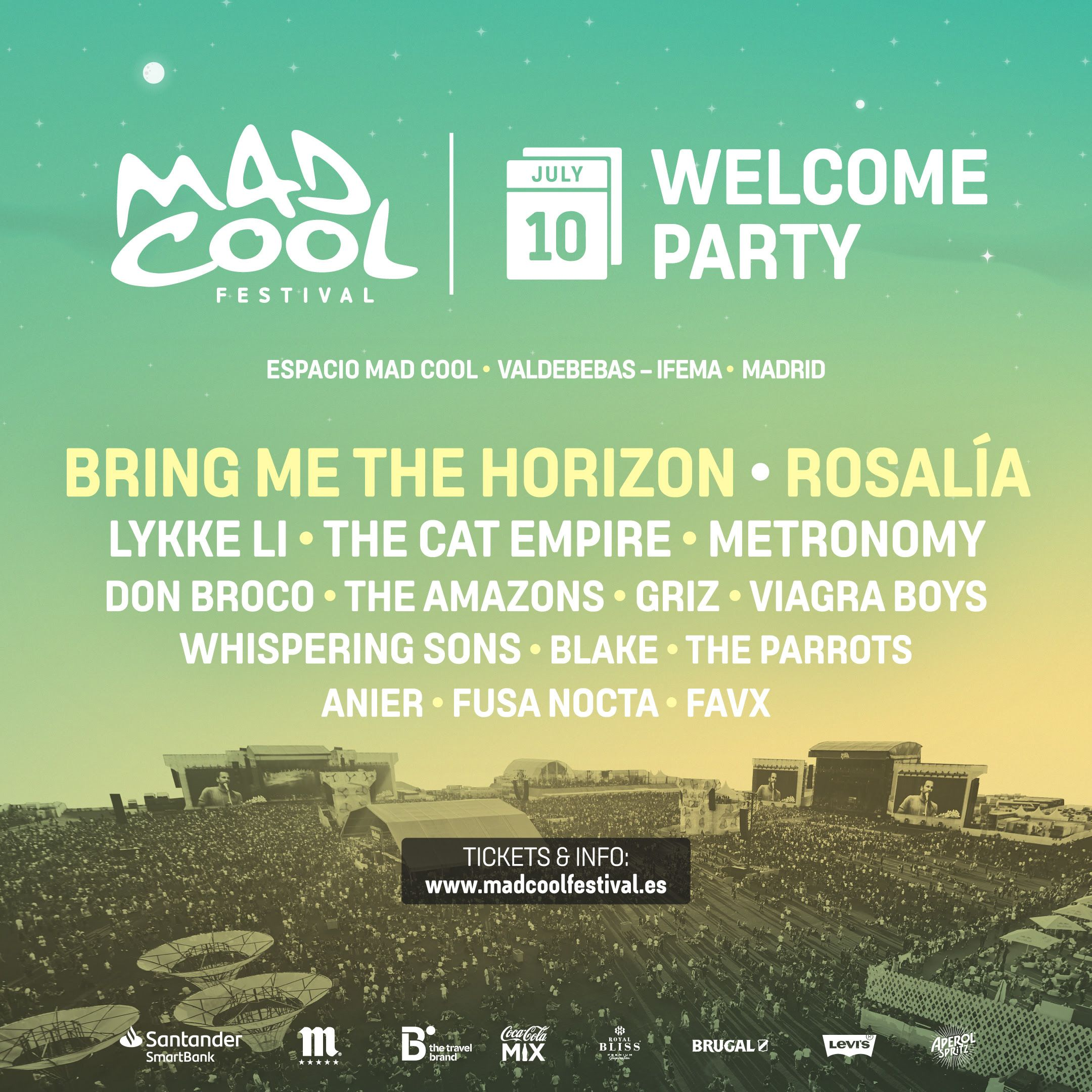 ROSALÍA, BRING ME THE HORIZON, METRONOMY… ¡YA A LA VENTA LAS ENTRADAS PARA LA MAD COOL WELCOME PARTY 2019!