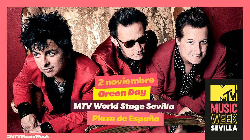GREEN DAY, CABEZA DE CARTEL DE MTV WORLD STAGE SEVILLA