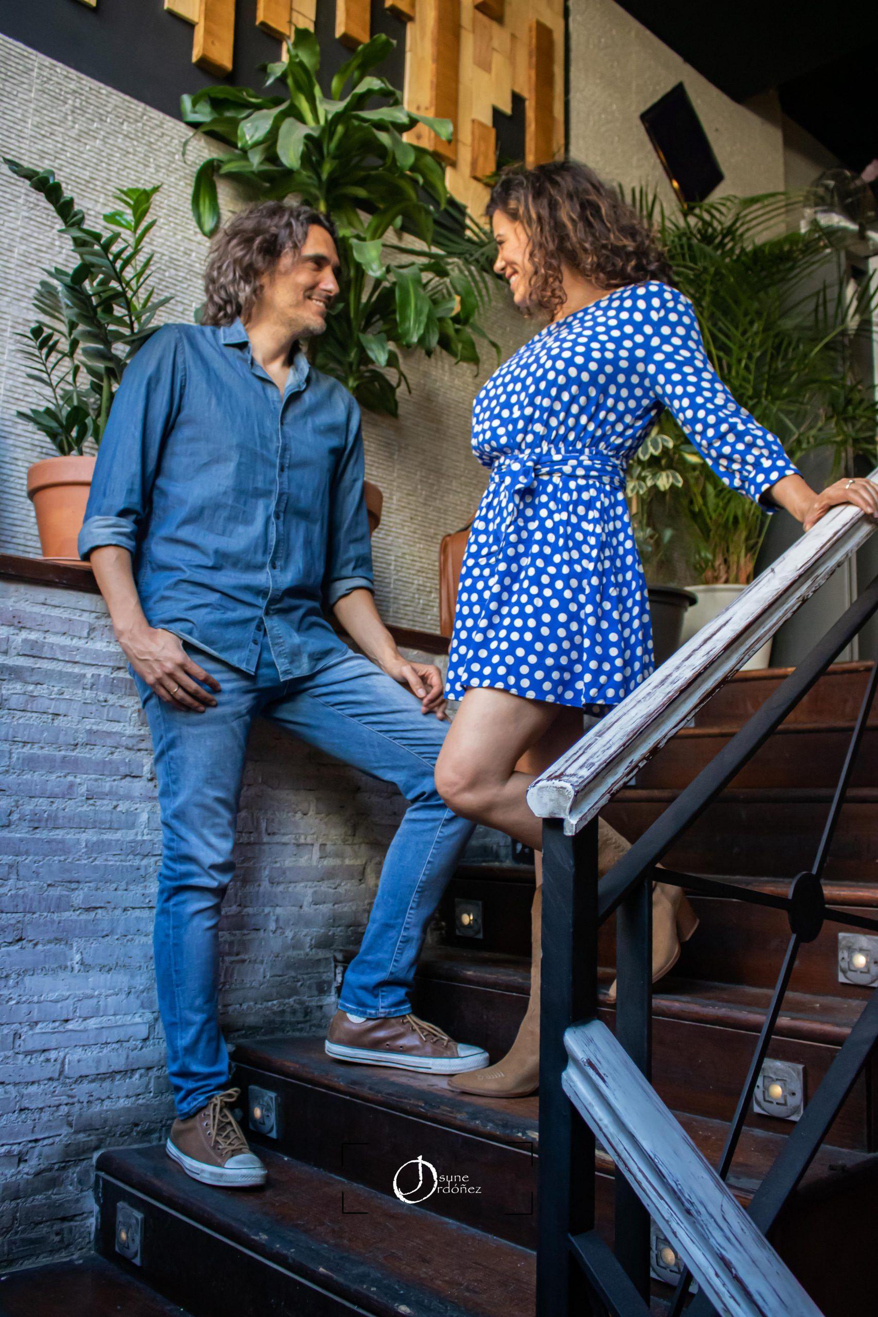 Joaquin Padilla y Chus Herranz componentes del grupo Entrelazados. Foto: Josune Ordóñez